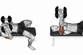 Close grip dumbbell press
