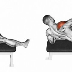 Lying dumbbell side raise