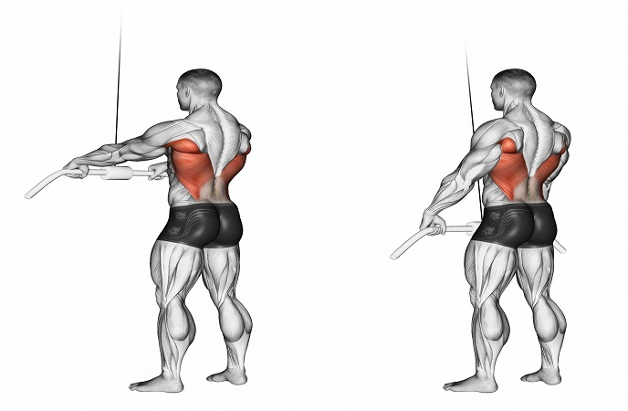 straight arm pulldown